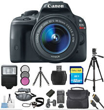 Canon EOS Rebel SL1 DSLR Camera with 18-55mm Lens (Black) MEGA BUNDLE!!! New!!