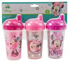 Disney Minnie Mouse Sippy Cups Pink 3 Count