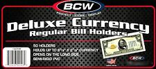 1000 BCW Deluxe Semi Rigid Regular Bill Holders