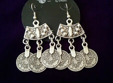 TURKISH MADE SILVER PLATED EARRİNGS 5006