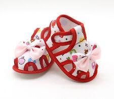 Newborn Infant Baby Girl Sandals Summer Bow Soft Crib Shoes Anti-slip Prewalker