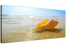 Blue Modern Canvas Picture of Beach Landscape for Bathroom 1148