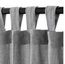 "IKEA Curtains Gray LENDA  1 panel 55 x 108"" 100% cotton"