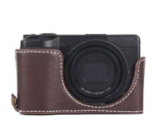 Real half Shell Ricoh Size III Pouch Coffee Camera Case CC1819c