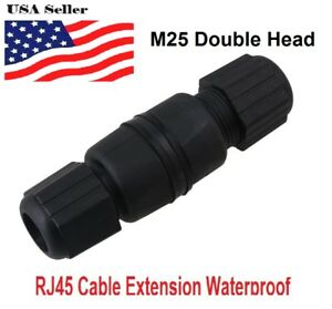 RJ45  Female to Female Adapter Waterproof connector M25 Ethernet