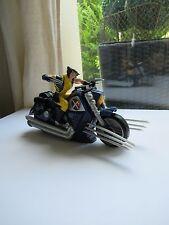 👿 Figurine Moto Wolverine X Men Lumineuse & Son Hasbro 2008 Marvel