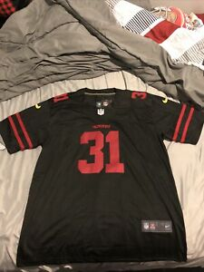 SanFrancisco 49ers Raheem Mostert Stitched Black Replica Jersey 2XL