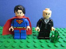 genuine LEGO SUPERMAN & LEX LUTHOR minifigure DC COMICS super heroes  SET 17G