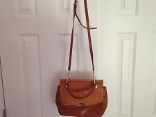 Antonio-Melani-Brown-Cognac-Saddle-Leather-Handbag/Crossbody-Purse-Tote-