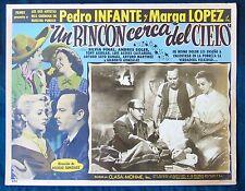 PEDRO INFANTE UN RINCON CERCA DEL CIELO N MINT LOBBY CARD PHOTO 1952 MARGA LOPEZ