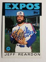 1986 Topps Jeff Reardon Auto Autograph Card Expos Mets Red Sox Signed #35 HOF??