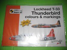 T 33 BOOK w/DECALS BY MARK I (DOZEN SERIE) 1/72 - REF.72008