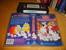 Vhs * 101 Dalmatian's * Walt Disney Classics Issue Stunning Cult Animation Movie
