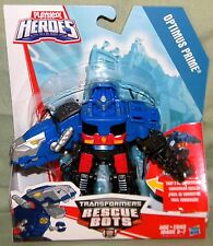 OPTIMUS PRIME NIGHT T-REX Playskool Heroes Transformers Rescue Bots 2017 Hasbro