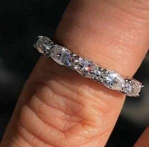 2.50 Ct Oval Brilliant Diamond Wedding Ring Hallmark 14 Carat White Gold
