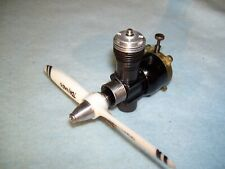 COX BLACK WIDOW C/L MODEL AIRPLANE ENGINE WITH EXCELLENT COMPRESSION MORE BELOW