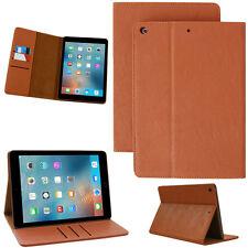Echt Leder Schutzhülle Apple iPad Air 2 Tablet Tasche Cover Case braun + Folie