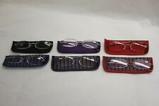 Set of 6 Reading Glasses with Soft Cases by Lori Greiner +2.5 RTL$41