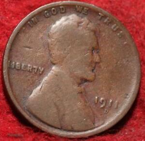 1911-D Denver Mint Copper Lincoln Wheat Cent