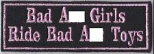 BAD A** GIRLS PATCH LADY BIKER TRIKER CRUISER