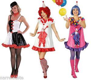 Clown Harlekin Kostüm Kleid Zirkus Clownkostüm Pirrot sexy rot weiß Köln Kölle