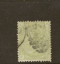 GB 1877 SG153 4d SAGE GREEN FINE USED ' FC ' PLATE15