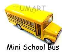Mini 5 in Diecast School Bus Toy Pullback Action Opening Door Kids Party Kinsfun