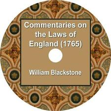 Commentaries on the Laws of England, William Blackstone Audiobook on 1 MP3 CD