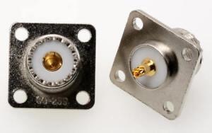 1 Stück UHF-Einbaubuchse (SO-239) mit Flansch - PL-Flanschbuchse (M3603)
