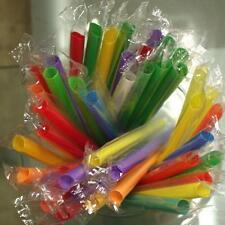 50pc Multicolor Long Straight Drinking Straw Home Bar Party Cocktail Drink Straw