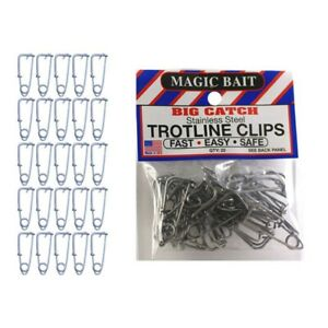Magic Bait Big Catch Stainless Steel Trotline Clips 25-Pack FREE Shipping