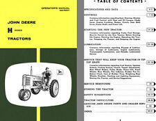 John Deere H Series Tractors Operators Manual OM-R2011