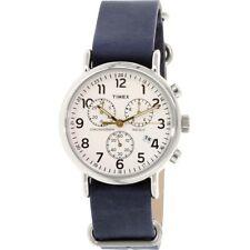 Timex TW2P62100 Men's Weekender Analog Watch, Blue Band, Round 40mm Case
