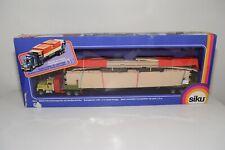 PC 1:55 SIKU 4013 MACK TRUCK WITH TRAILER BRIDGE BRUCKE GREEN MINT BOXED