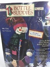 "Bottle Buddies - Mr. Cool - 17"" Snowman - Dimensions Fabric Felt Craft Kit 62124"