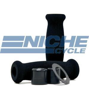 "Black 120mm Foam Motorcycle Highway Cruiser Barrel Grips 7/8"""