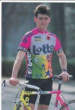 CYCLISME carte cycliste STEPHANE HENNEBERT équipe LOTTO MBK mavic 1992