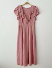 & Other Stories Ruffle Lapel Midi Dress Size 6