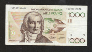 1000 FRANCS VF-FINE BANKNOTE FROM BELGIUM 1980-96 PICK-144  RARE