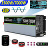 3500W/7000W Pure Sine Wave Power Inverter 12V 240V USA Transistors Large Shell