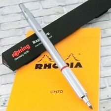 rOtring Rapid Pro 2mm Drop Mechanical Pencil Matal Silver Body Holder [NEW]