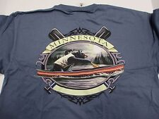"Minnesota Grizzly Bear T-Shirt Canoeing 40"" Chest L Prewash NOS New"