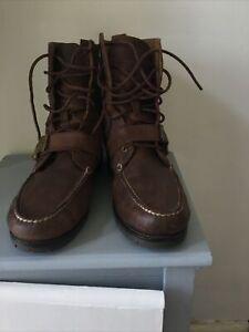 Polo Ralph Lauren Ranger Men Brown Lace Up Leather Boots  EU 46.5 UK 11.5 VGC