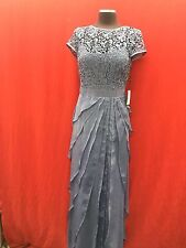 ADRIANNA PAPELL GOWN/MOTHER OF BRIDE DRESS/SIZE 10/RETAIL$220/STEEL BLUE/NEW