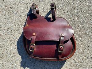 "R.M. WILLIAMS Handmade Leather Saddle Bag ~ 11"" x 10"" x 2 1/2"""