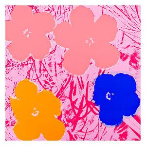 Flowers 1964 6 by Andy Warhol 54cm x 54cm High Quality Art Print