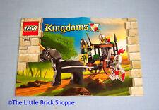 Lego Castle Kingdoms 7949 Prison Carriage Rescue INSTRUCTION BOOK ONLY - No Lego
