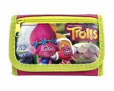 Disney Trolls wallet Hot Pink Children Boys Girls Wallet Kids Cartoon Coin Purse