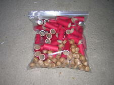 "xcvrdfKB4A] 25 NEW  21/8"" X 3/4"" X 3/32"" FIREWORKS KRAFT RED PYRO TUBES + PLUGS"