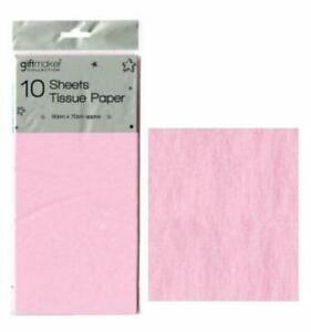 20 X Sheets BABY PINK Tissue Paper Gift Present Hamper Wrapping AcidFree 50x70cm